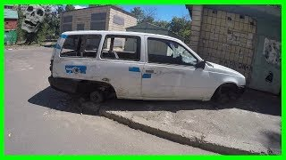 Urban Exploration Old Abandoned German Car Opel Kadett Wagon 1980s Found. Abandoned Vehicle 2017