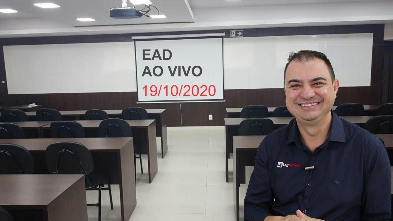 EAD AO VIVO 19-10-2020 - INFRAÇÕES E PENALIDADES