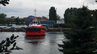 Wejście do portu Gdańsk statku Navios Magellan