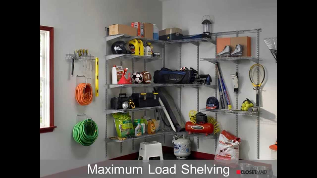 DIY Garage Systems And Solutions From ClosetMaid   YouTube