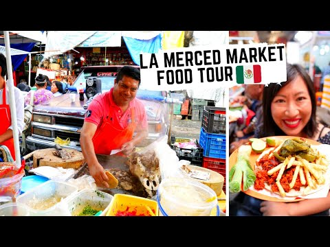 MEXICAN STREET FOOD TOUR in Mexico City's most EXHILARATING MARKET | Massive LA MERCED food tour
