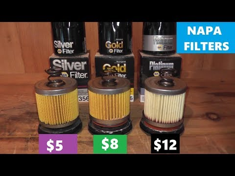 NAPA Silver vs NAPA Gold vs NAPA Platinum Oil Filters