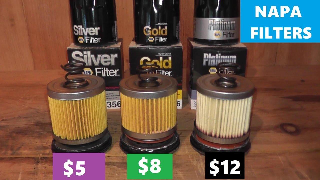 hight resolution of napa silver vs napa gold vs napa platinum oil filters
