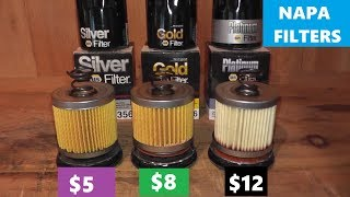 NAPA Silver vs NAPA Gold vs NAPA Platinum Oil Filters - YouTube | Napa Fuel Filter Subaru |  | YouTube