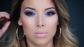 Vibrant Purple Eyes: Kat Von D Chrysalis Palette Tutorial!