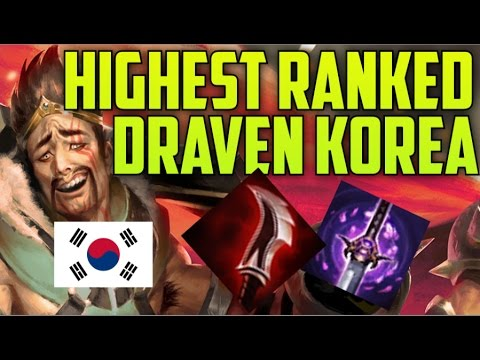 HIGHEST RANKED & BEST LOLSKILL KOREAN DRAVEN BUILD GUIDE- Master Tier KR