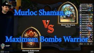 Maximum Bombs Warrior vs Murloc Shaman | Hearthstone