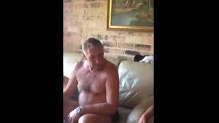 My grandpa likes to stroke his genatles