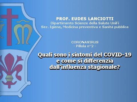 Sintomi COVID-19 e come si differenzia dall'influenza stagionale (Prof.Lanciotti) Pillola 2 di 15