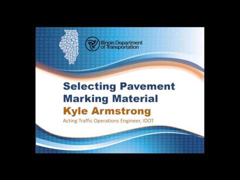 IDOT 2016 Pavement Marking Selection and Installation Inspection