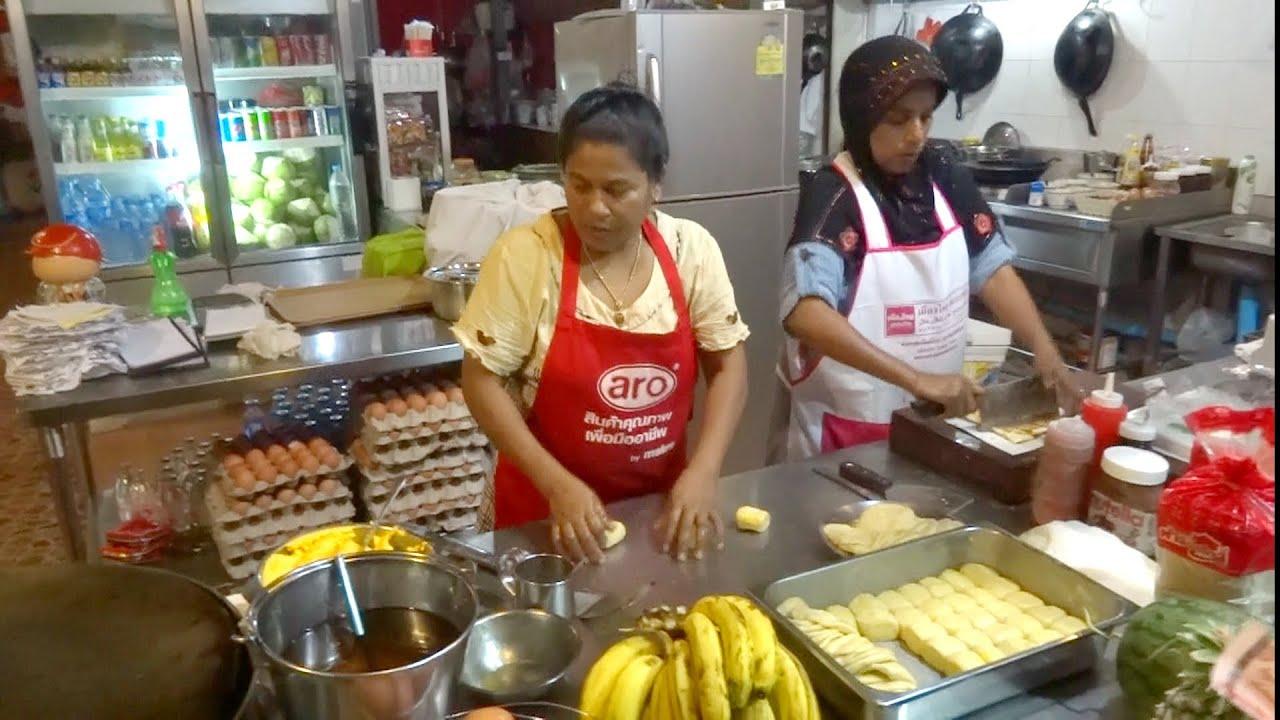 Thai Pancakes, Banana Pancakes, Street Food in Thailand ...
