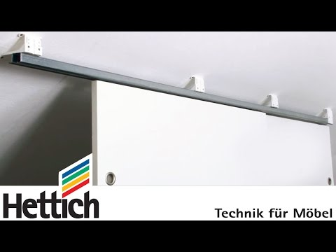 Adapter for sliding doors below sloping ceilings: Do-It-Yourself with Hettich