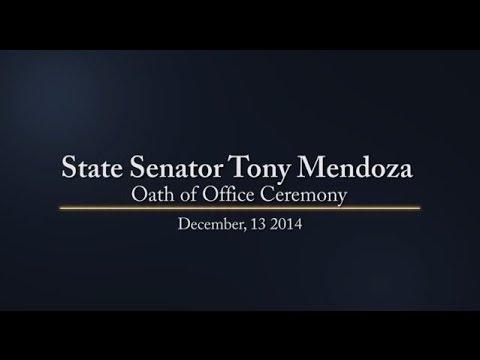 Senator Tony Mendoza - Oath of Office Ceremony