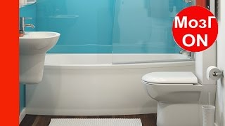 видео Как красиво выложить плитку в ванной: идеи и варианты