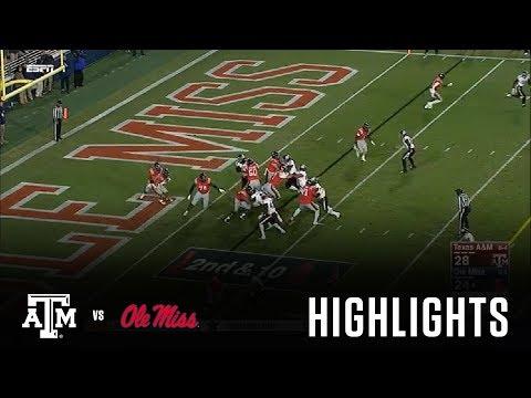 Football Highlights | Texas A&M vs. Ole Miss