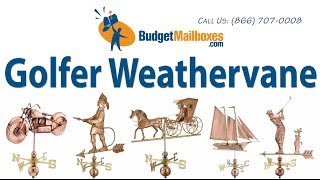 Budgetmailboxes.com | Good Directions 561p Golfer Weathervane - Polished Copper