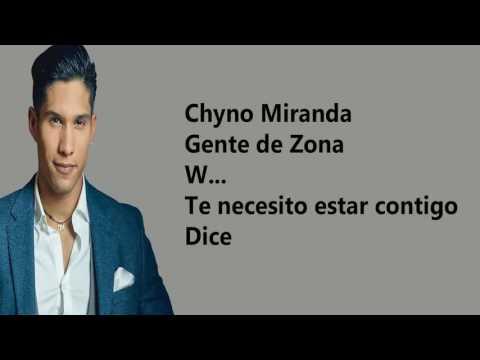 Quedate Conmigo (letra)- Chino Miranda Ft Wisin Y Gente De Zona