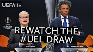 Rewatch the UEFA Europa League quarter-final, semi-final and final draws!