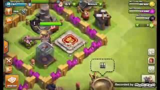 Testando a força de um rei bárbaro nvl 1??? (Clash of clans)