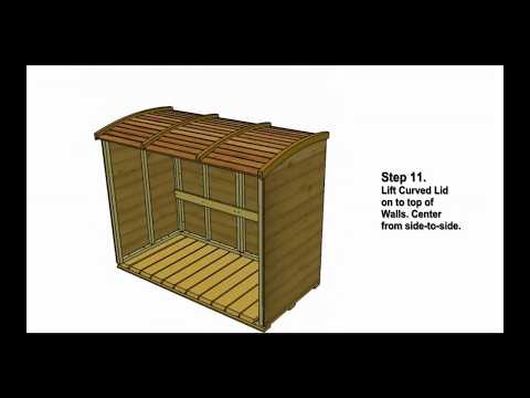 Garbage Can Storage Shed - Oscar Assembly Video by Outdoor Living Today.mp4