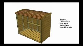 Garbage Can Storage Shed - Oscar Assembly Video by Outdoor Living Today