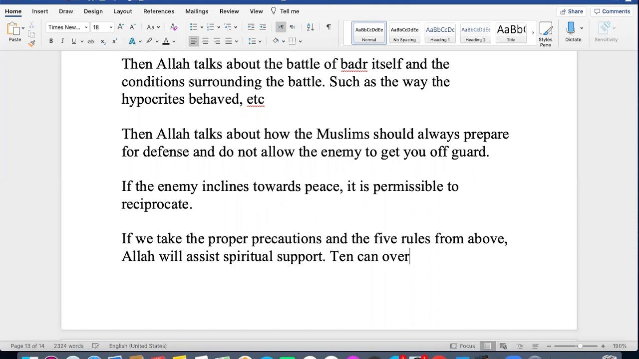 Sh. Zubair || Quranic Overview (Juz 10)