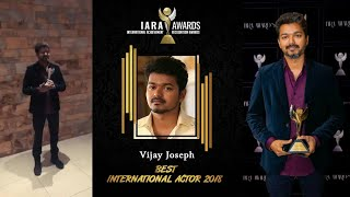 IARA AWARDS 2018 International best actor Thalapathy Vijay