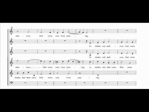 [choral music score] Draw on, Sweet Night - John Wilbye