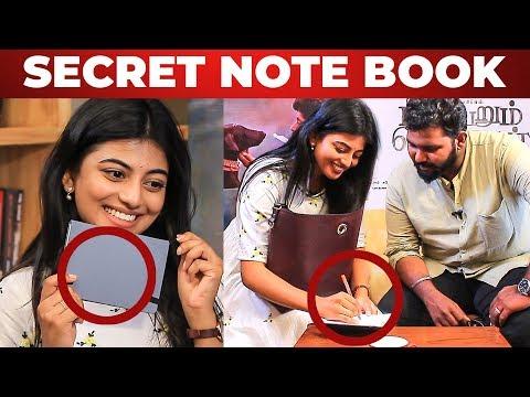 Kayal Anandhi's SECRET NOTEBOOK Revealed   What's Inside the HANDBAG