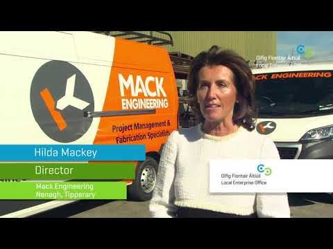 Hilda Mackey - Mack Engineering interview at launch of Local Enterprise Week 2018