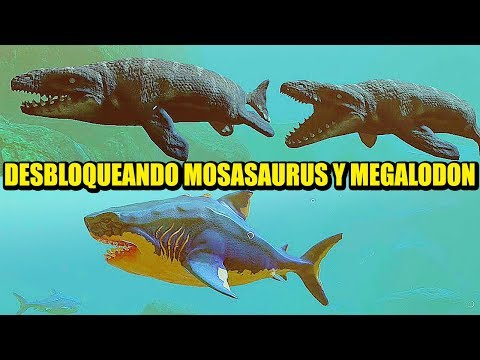MANEJANDO EL MOSASAURUS Y MEGALODON :D - FEED & GROW | Gameplay Español