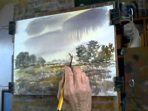 Watercolour demo. Carnac Farmhouse