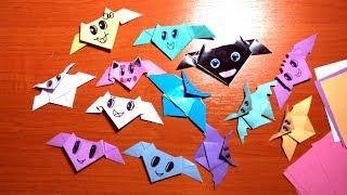DIY! Оригами летучая мышь из бумаги - поделки для декора на Хэллоуин