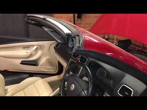 VW Volkswagen Eos Roof Seal Cleaning Acess, Drain Line Location & Flushing