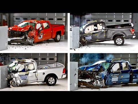 Crash Tests 2016 Pickup Truck - F-150, Silverado, Tundra, Ram