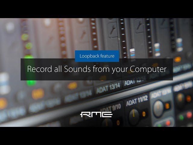 Record all Sounds from your Computer