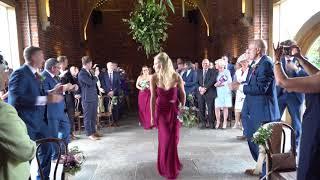 Helen & Barry's wedding, the aisle dance Hazel Gap Barn