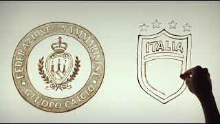 DISEGNI CON LA SABBIA |  Video per la Federazione Sammarinese Giuoco Calcio