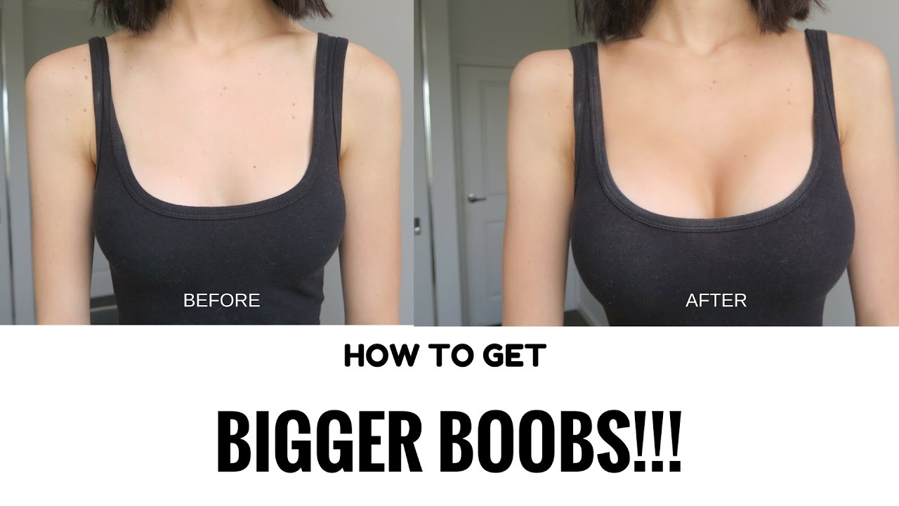 HOW TO GET BIGGER BOOBS WITHOUT SURGERY IN MINUTES! MIRENESSE