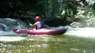 Mom decided to surf the drop class III Toe River