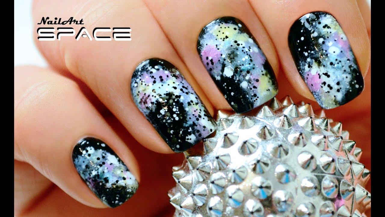Фото ногтей дизайн космос