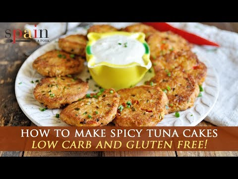 Spicy Spanish Tuna Cakes With Garlic Yogurt Aioli
