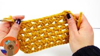 Новый узор жемчужина с полустолбиками | Урок вязания крючком для начинающих