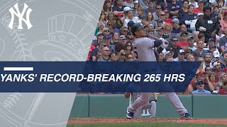 Yankees break MLB record with 265 home runs in 2018
