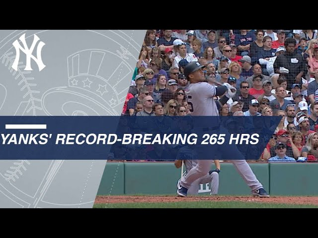 0c9640e5361 New York Yankees Break Single-Season Home Run Record (Video)