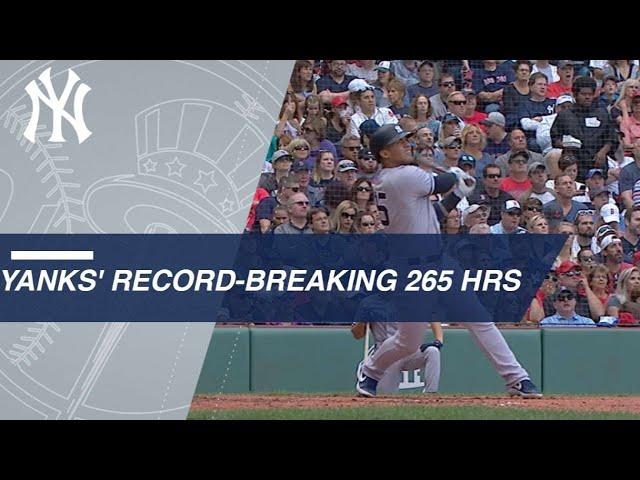 0c9640e5361 New York Yankees Break Single-Season Home Run Record (Video)