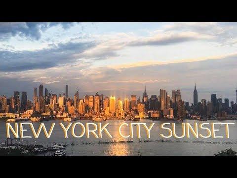 NEW YORK SUNSET TIMELAPSE   LIVE ADVENTURE TRAVEL