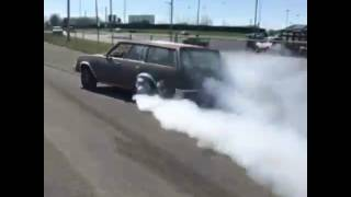 Chevy wagon big burnout