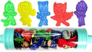 PJ MASKS Play Doh Surprise Molds Catboy Owlette Gekko Romeo Luna Girl Toys Learn Colors for Kids
