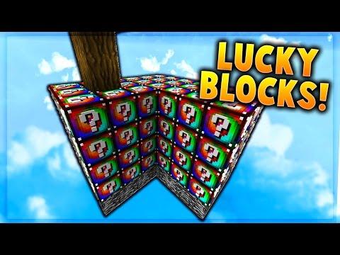SPIRAL LUCKY BLOCK SKY BLOCK WARRIORS! - Minecraft Mods
